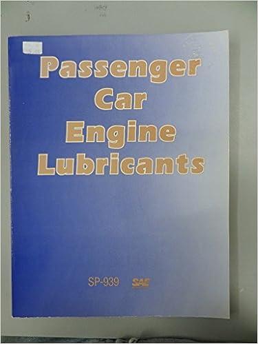 Passenger Car Engine Lubricants (S P (Society of Automotive