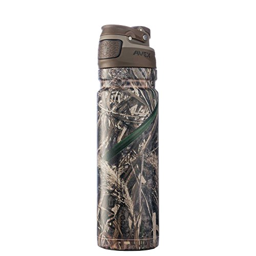 AVEX FreeFlow AUTOSEAL Stainless Steel Water Bottle 24oz Max-5 Realtree Camo