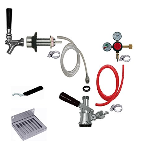 Price comparison product image Bev Rite CRCK101 Premium Refrigerator Conversion Kit Door Mount Keg Tap Beer Single Line,  Without CO2 Tank,  Clear