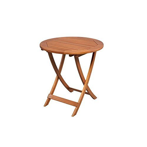 Adelaide Eucalyptus 27 in. Round Folding Patio Bistro Table by Hampton Bay