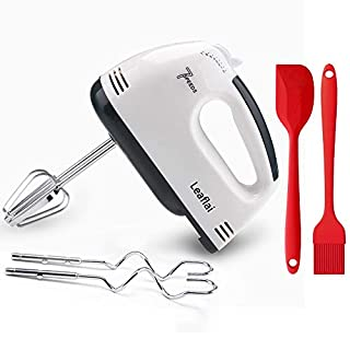 Hand Mixer Electric, 7-Speed Power handheld Mixer for Baking 2X Beaters & 2X Dough Hooks Stainless Steel Accessories Cake Egg Cream Food Beater