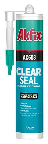 akfix-603-clear-acrylic-latex-sealant-clear-105-fl-oz-cartridge-pack-of-12