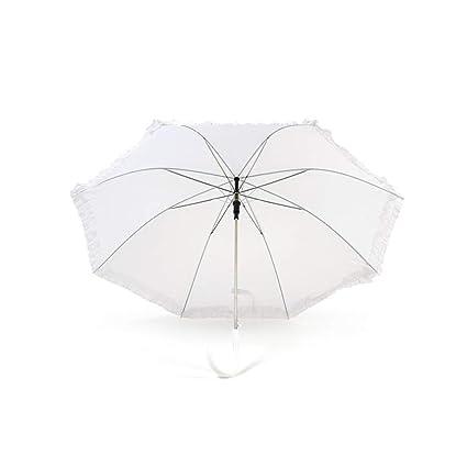 AC1303//BLANC Ombrelle mariage blanche 125 cm diam Chaks