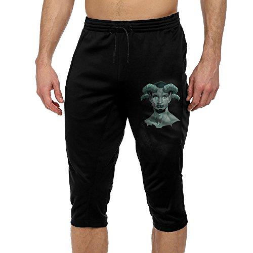 OU FANSHANG Men's Casual Fashion Capri Pants Faun Popular Cool Pants Jogger Cropped Trousers