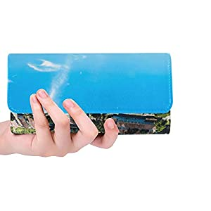 Unique Custom Landscape Bottom Beauty Nature Beach Summer Women Trifold Wallet Long Purse Credit Card Holder Case Handbag