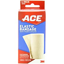 ACE Elastic Bandage with Hook Closure, 4 Inch