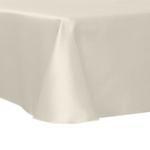 Ultimate Textile Herringbone - Fandango 120 x 120-Inch Square Tablecloth, Ivory Cream