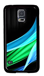 cassette Samsung Galaxy S5 covers Blue And Green Wave IlikeCom PC Black Custom Samsung Galaxy S5 Case Cover