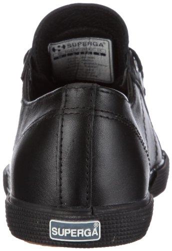 Superga S003880 - Zapatillas de cuero para hombre Negro