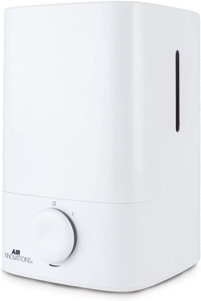 Air Innovations 1.2 Gallon Cool Mist Humidifier Ultrasonic Humidifier for Bedroom Antimicrobial Auto Shut-Off 70 Hour Runtime BPA Free
