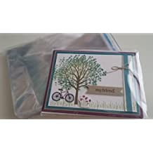"""Crystal Clear Resealable A2 Envelopes Cello Bags - 4 3⁄4"""" x 6 1⁄2"""" Package of 100"""