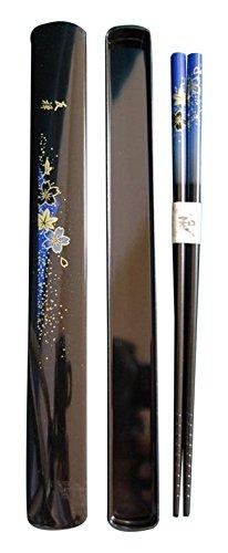 JapanBargain 3642-J Travel Chopsticks, Yuzen Blue