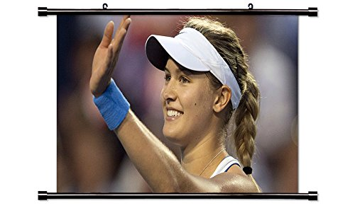 Eugenie Bouchard Tennis Player Wall Scroll Poster  32X18  Inches