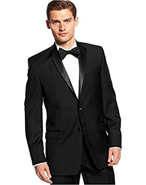 Calvin Klein Slim Fit Blazer Black Solid New Men's Tuxedo Sport Coat (40 Long)