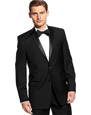 Calvin Klein Slim Fit Blazer Black Solid New Men's Tuxedo Sport Coat (40 Long)