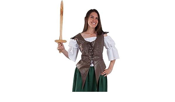 DISBACANAL Chaleco guerrera Medieval - Único, M: Amazon.es ...