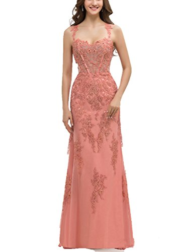 elegant a line sweetheart floor length prom dresses - 6