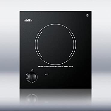 Summit Appliance CR1115 12 in. Radiant Electric Cooktop in Black with 1 Element
