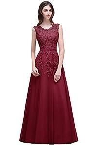 Babyonlinedress Babyonline Women's Lace A Line Formal Evening Dress For Women Long Prom Dress