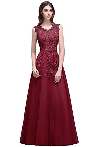 Babyonlinedress Burgundy Prom Dress 2016 Lace Appliques Long Evening Dresses for Weddings by Babyonlinedress