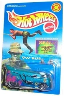 Amazon Com Hot Wheels Vw Volkwagen Bus Special Edition M D Toys Limited Edition U S Navy Seals Theme And Paint Graphics Toys Games