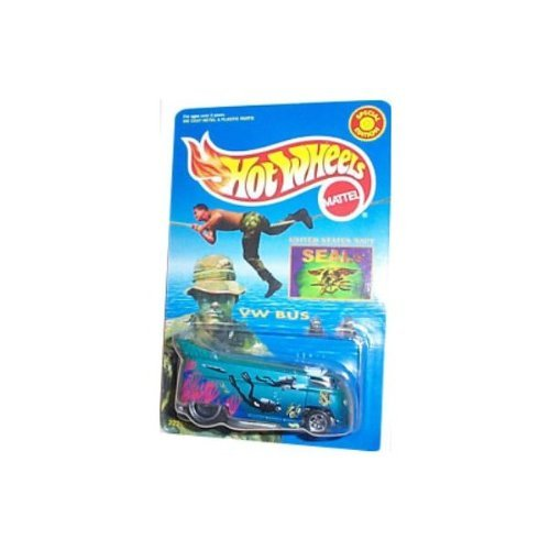 (Hot Wheels - VW (Volkwagen) Bus Special Edition - M&D Toys Limited Edition - U.S. Navy Seals theme and paint graphics)