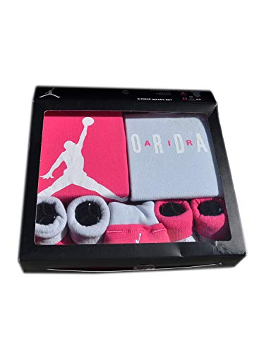 - Nike Air Jordan Infant Boys or Girls 5-Piece Set (0-6 Months, Pink (5814) / Light Grey/White/Pink)