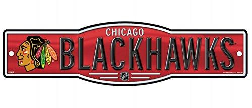 WinCraft NHL Chicago Blackhawks 4''x17'' inch Plastic Street Sign Chicago Blackhawks Street Sign