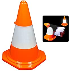 Orange Cone Desktop LED Lamp