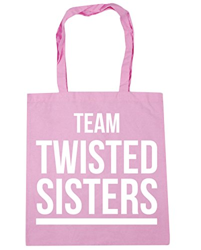 litres Bag Tote 10 42cm HippoWarehouse x38cm Team Shopping Twisted Classic Gym Beach Sisters Pink UxBaq