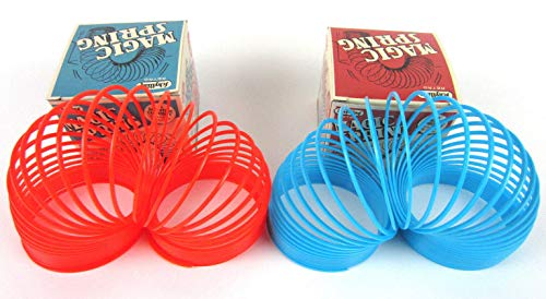 Purple Slinky - Big Game Toys~1 Magic Spring (Red or Blue) Slinky Retro Toy Walks Stairs Tricks Large 3