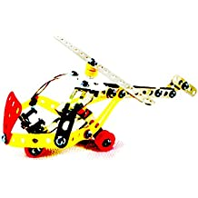 Polade 3D Assembly Metal Helicopter Model Kits Toy Plane Building Puzzles Set for Kids Children Boys and Girls 6 7 8 Years Old, 88 Pcs by polade toys