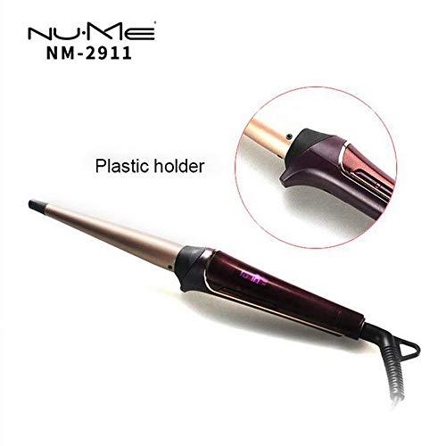 LITTHING Rizador Plancha para pelo Pantalla LCD Chapado Cónico Tourmaline recubrimiento de Cerámica: Amazon.es: Belleza