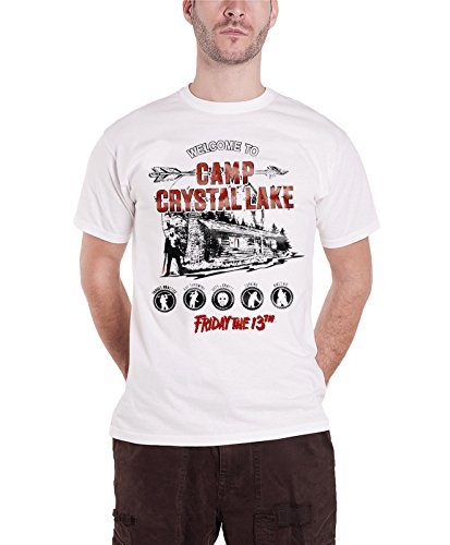 Friday The 13Th T Shirt Camp Crystal Lake Official Mens White -