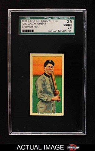 1914 Coupon T213 # 245 BRK Zach Wheat Brooklyn Dodgers (Baseball Card) (Brooklyn Nat. Type 2) SGC 2.5 - GD+ Dodgers