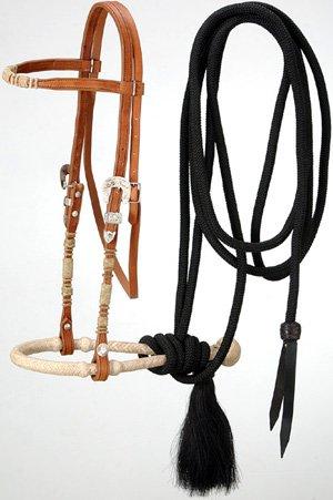 Royal King Browband Headstall Bosal/Mecate Set