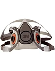 3M - 51131070245 Half Facepiece Reusable Respirator 6100, Gases, Vapors, Dust, Paint, Cleaning, Grinding, Sawing, Sanding, Welding, Small