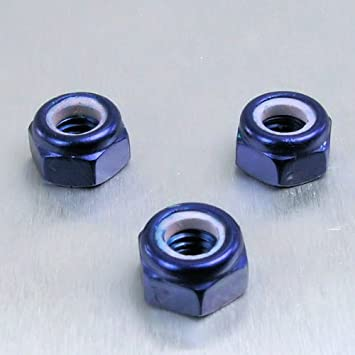 Aluminium Nylock Nut M6 Purple