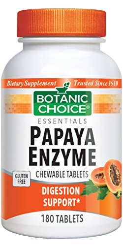 Botanic Choice Papaya Enzyme Chewable, 180 (Papaya Enzyme 100 Chew)