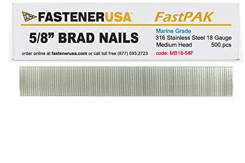 16 Gauge 2 1//2 Inch Galvanized Chisel Point Straight Finish Brad Nails 2.5M 2 PK