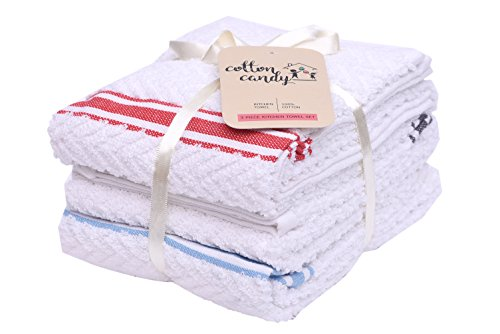 Cotton Candy Terry Towel Set of 3( Black Blue Red) 16