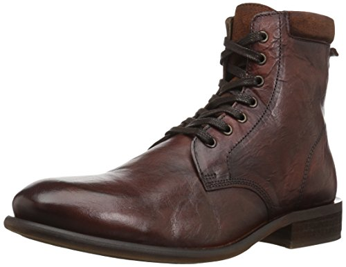 ALDO Men's Derrian Combat Boot, Cognac 9.5 D US