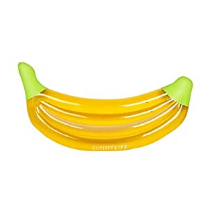Sunnylife Luxury Adult Inflatable Pool Float Lie Down Beach Toy - Banana