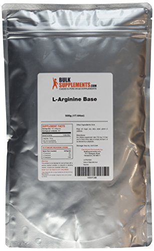BulkSupplements Pure L-Arginine Base Powder (500 grams ...