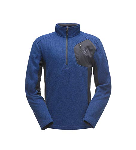 Spyder Men's Bandit Half-Zip Stryke Fleece Pullover Jacket for Winter Sports ()