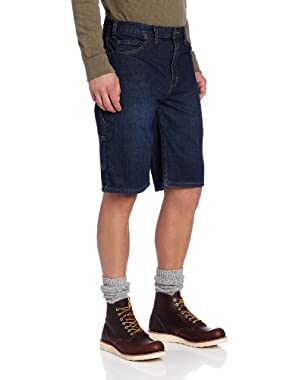 Men's 11 Inch Regular Fit Denim Utility Short