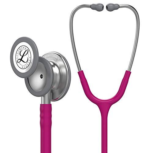 3M Littmann Classic III Monitoring Stethoscope, Raspberry Tube, Stainless Stem and Headset, 27 inch, 5648