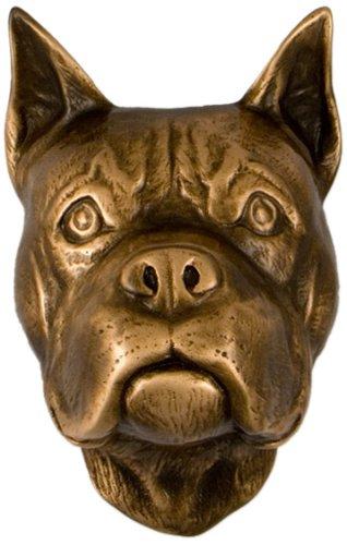 Boxer Dog Knocker - Bronze