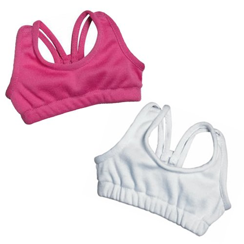 Sophia's Doll Sports Bra 2 Pc.Set of Doll Underclothes Fits 18 Inch American Girl Dolls, Pink & White