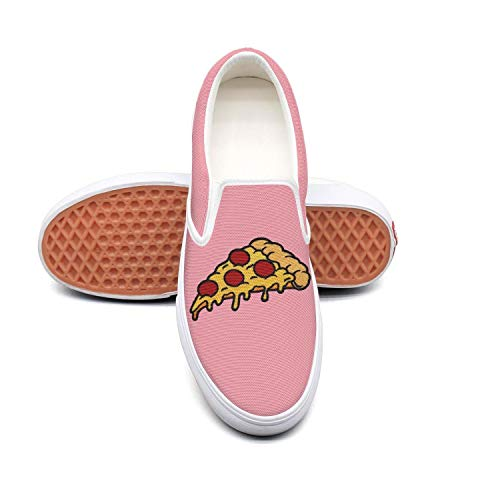 PPQQMM italian family vegetarian pizza Mens Canvas Casual Skateboard Shoes -